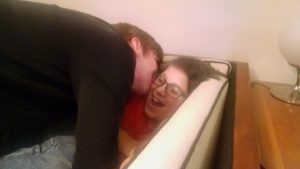 Example of a goodnight kiss for my son.