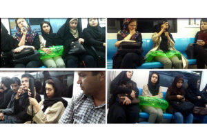 In this project, I rode the subway wearing a swimming rubber tube around my waist. As I sat on the crowded metro, surrounded by people, I started to blow it up. I wanted to show the invisible private space around my body which is ignored most of the time. I used the glowing green rubber tube to make it visible. I performed it Tehran (Iran) where some public places are divided by gender. Some Carriages of the train are exclusively for women, and the rest of them are common. I wanted to challenge the politics of space in both of them to see if their reactions would be different.